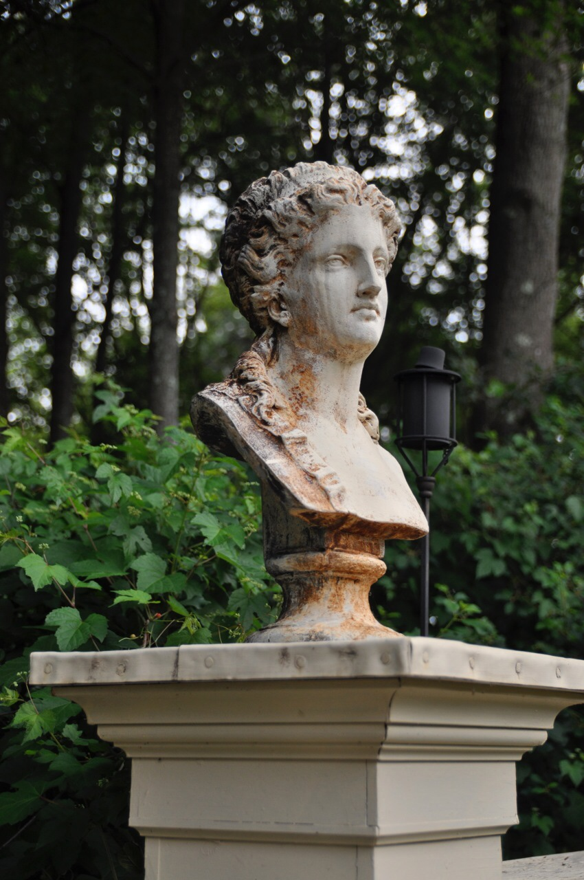 The Victorian lady's face was cast from the above bust.