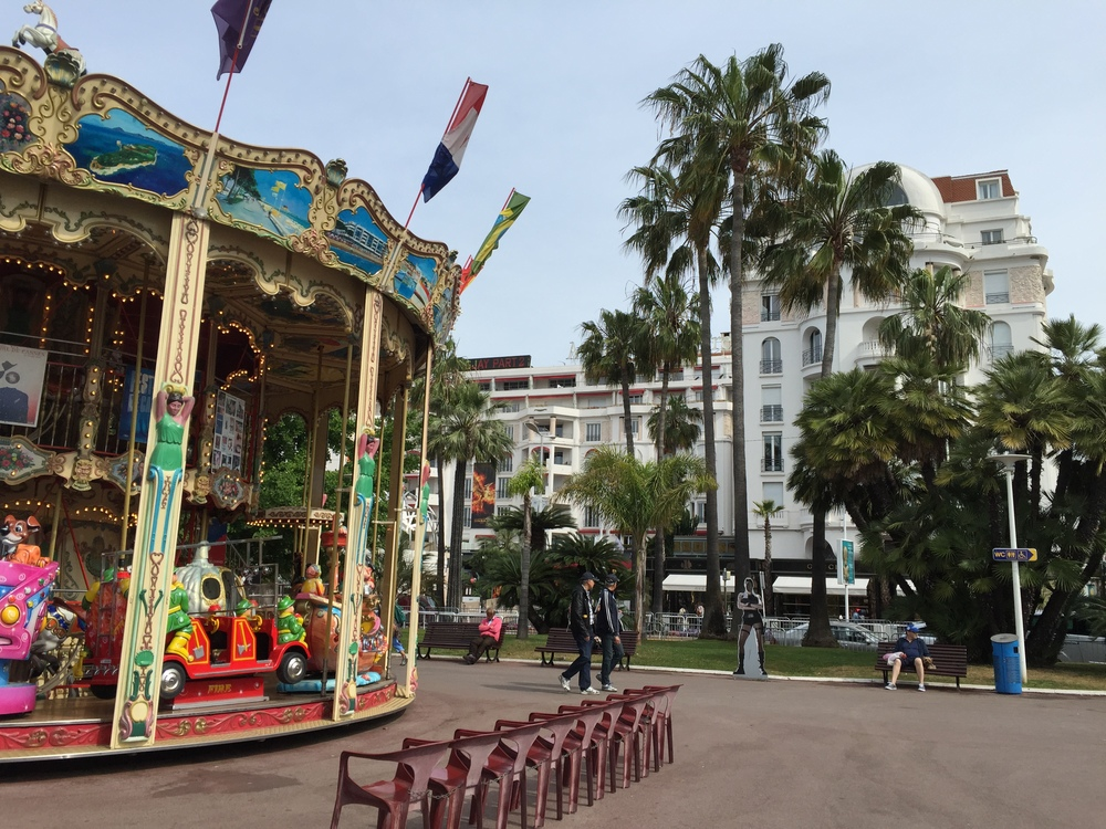 The carousel in Cannes | Photograph by Lauren L Caron © 2015