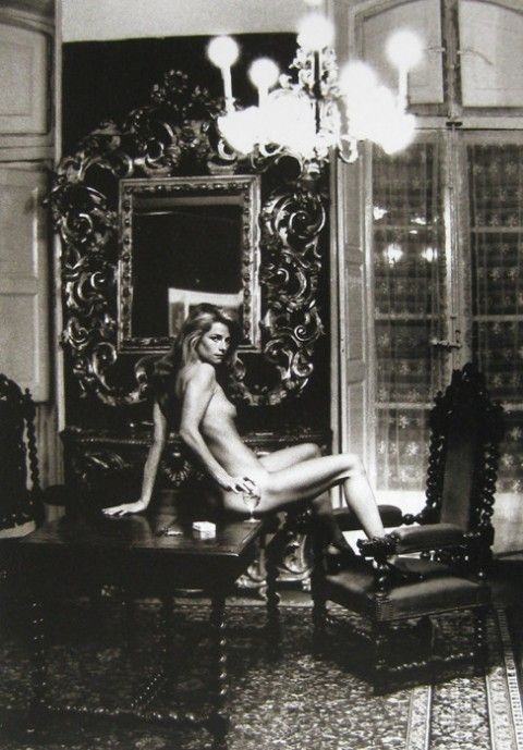 Helmut Newton's iconic 1974 Vogue portrait of a reclining Charlotte Rampling - located in The Grand Hotel Nord-Pinus