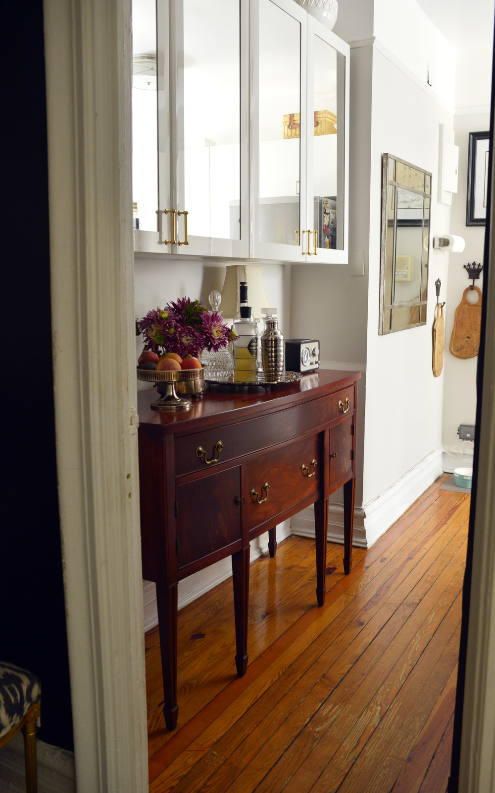 The new Sideboard installed |  Photograph by Lauren L Caron