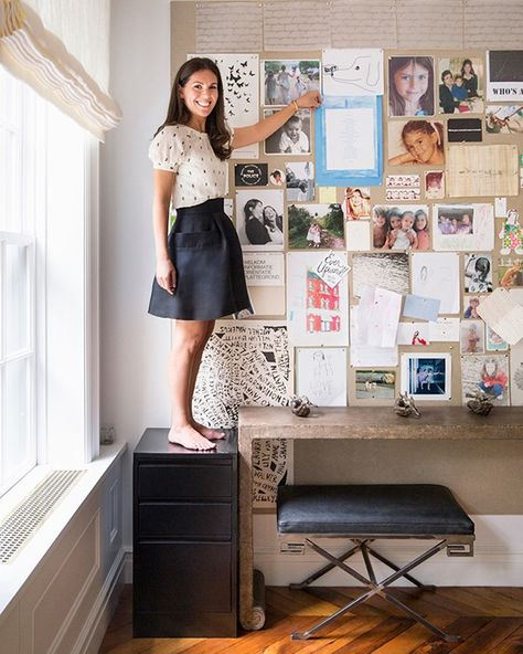 Office Wall Inspiration | Interior Design - Ali Cayne | Domino Mag | Photos - Brittany Ambridge