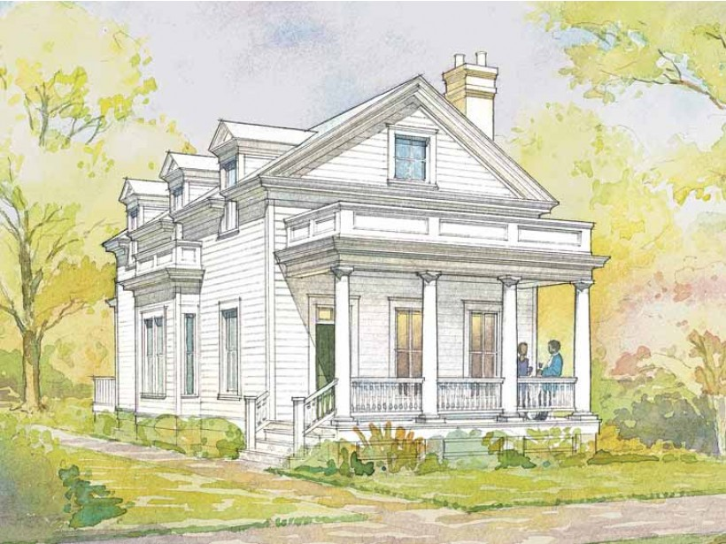 Example of a modern Greek Revival style home | Dream House Plan from Southern Living | I pulled an ad out of  a magazine back in the 90s for this house, and I still want it!
