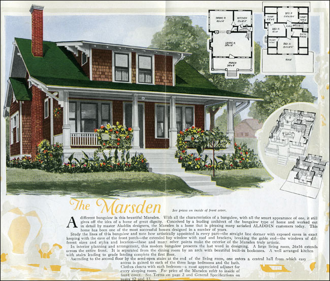 1920s Craftsman Bungalow plans from antiquehomestyle.com