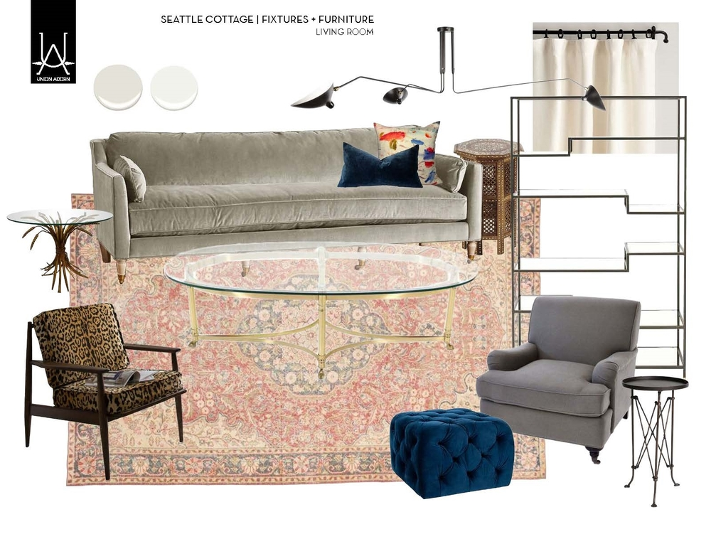 Seattle Livingroom Design Board