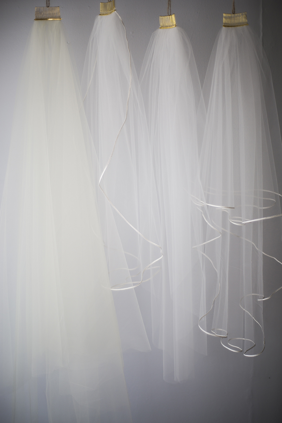 An assortment of veils  Photo by Joseph Laurin Photography