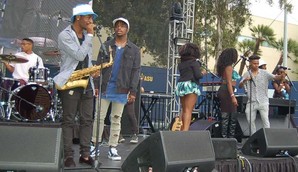 Westwood Village Entertainment Group is a collective of various vocalist/rap artist, producers, songwriters, and musicians that have the passion of making and producing music in the genres of Hip-Hop, Jazz, R&B, and Pop music. WVEG enjoys making and playing good music that can impact the lives of people. Not only is Westwood Village ENT a collective that focuses on the musical art but have members that are into the art of fashion and media entertainment.The group is from different urban communities of America but all met in Westwood, Los Angeles,CA for the goal of creating a trend in pop-culture that can reach the masses from colleges and universities to the whole world.