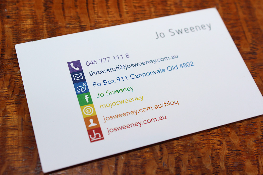 My brand jo sweeney for Free social media icons for business cards