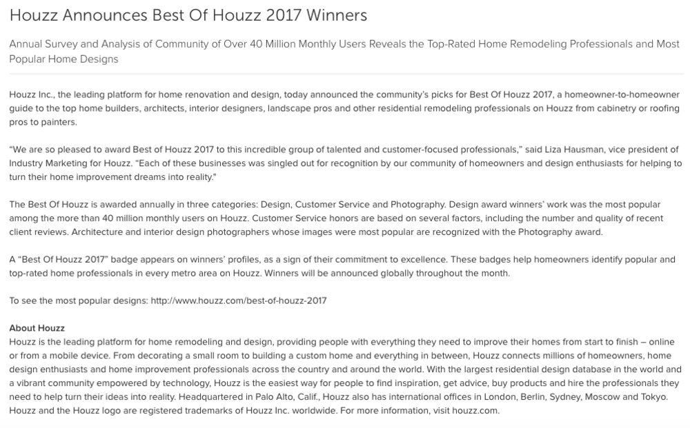 REITZ BUILDERS: Best of HOUZZ 2017