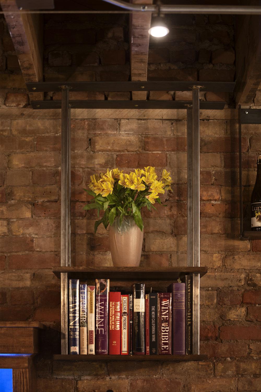 Custom industrial floating shelves