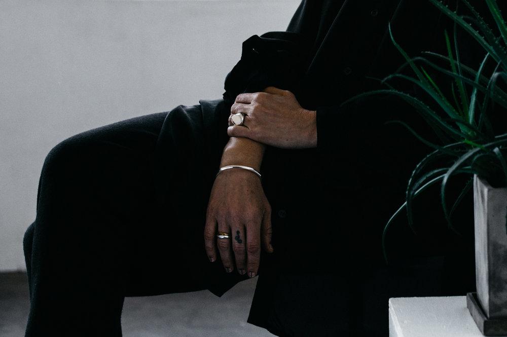 Top -Dsecond  Pants -Marni  Jewelries -Kei Shigenaga