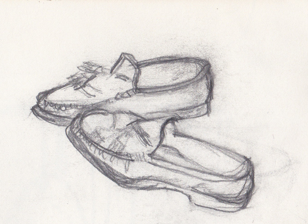 loafers sketch by Aaron Feinman