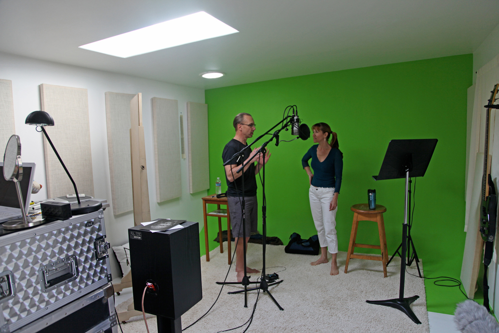 Soundproof recording environment for ADR, foley and singers