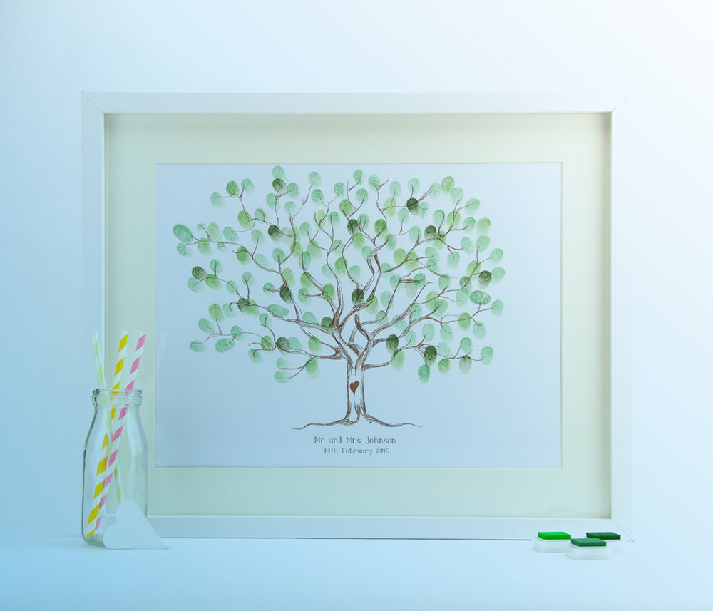 Rustic Tree Fingerprint Guest book