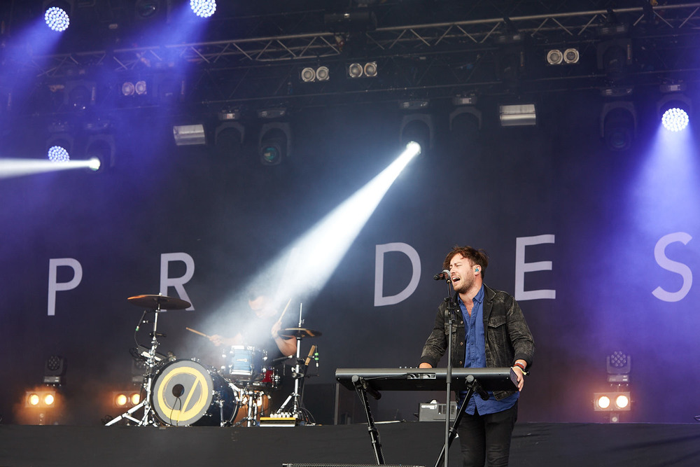 Prides performing on the final day of Boardmasters music festival, Watergate Bay, Cornwall 2015