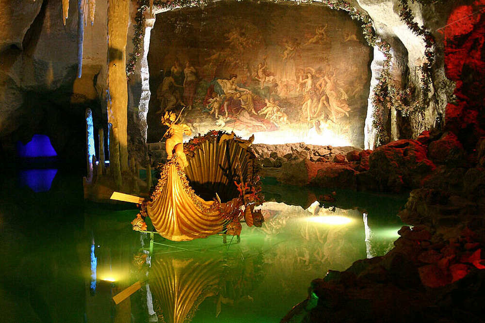 King Ludwig's underground lake at Linderhof Palace Image by Softeis at Wikipedia