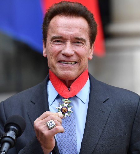 Arnold Schwarznegger recieves France's Highest Honor in April 2017.