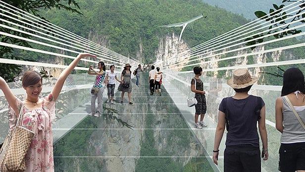 World's Longest Glass Bridge in China designed by Israeli Architect Haim Dotan