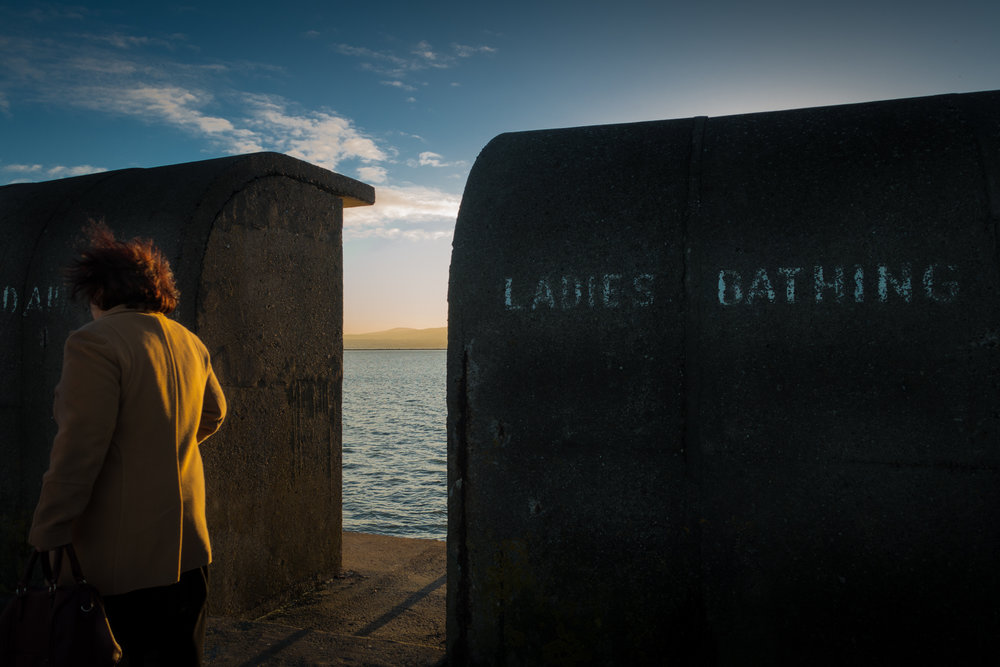 Lady bathing shelters