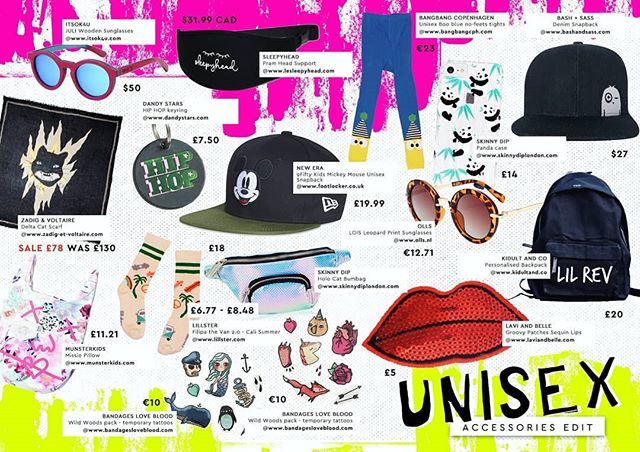 Gender Neutral is our hot topic and we're loving the unisex clothing and accessories available!!! Did you see our 'Unisex Accessories Edit'? We scoured the net so you don't have too :) From temporary tattoos to cool caps, there's something for everyone!!! 😍 @neweracap @footlocker @dandystars @zadigetvoltairekids @bangbangcopenhagen @munsterkids @bandages_love_blood @skinnydiplondon @laviandbelle @kidultandco @lillsterworld  #genderneutral #unisex #accessories #kidsfashion #littlerevolutionmagazine #newera #footlocker #snapback #disney #mickeymouse #dandystars #hiphop #keyring #zadigandvoltaire #scarf #blackcat #itsok4me #sunglasses #woodenglasses #polarised #sleepyhead
