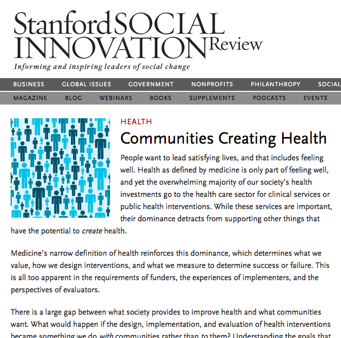 Our 19-part series on what it would mean for communities to be involved in the design, implementation, and evaluation of health interventions