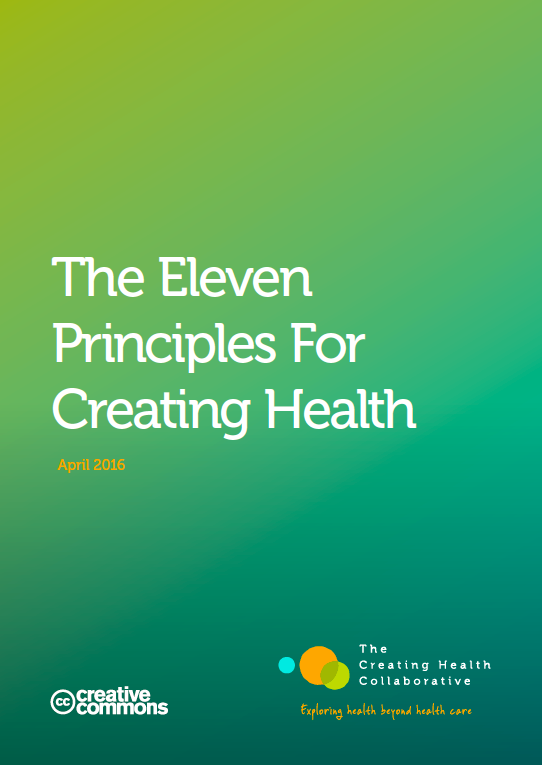 Our new report on the eleven principles for creating health based on the work of our members