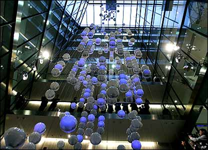 Before -  London stock EXCHANGES 'floating balls'