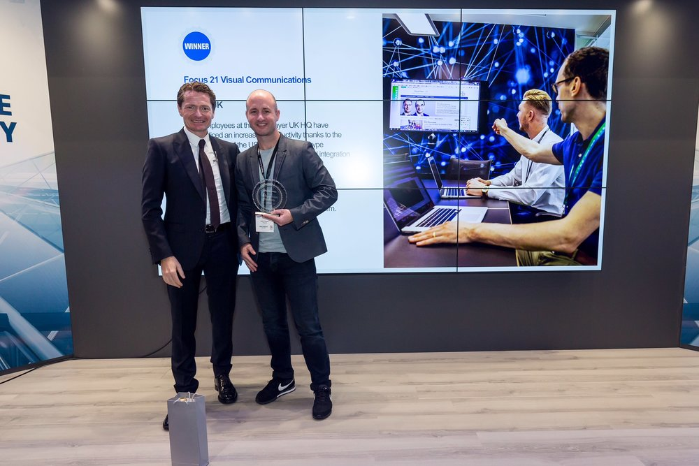 Crestron Awards - On day two of ISE 2018 the same project won Crestron's award for Best User Experience in the Corporate category. Crestron featured heavily in the Bayer installation and helped ensure the ease-of-use that was so important to the client.