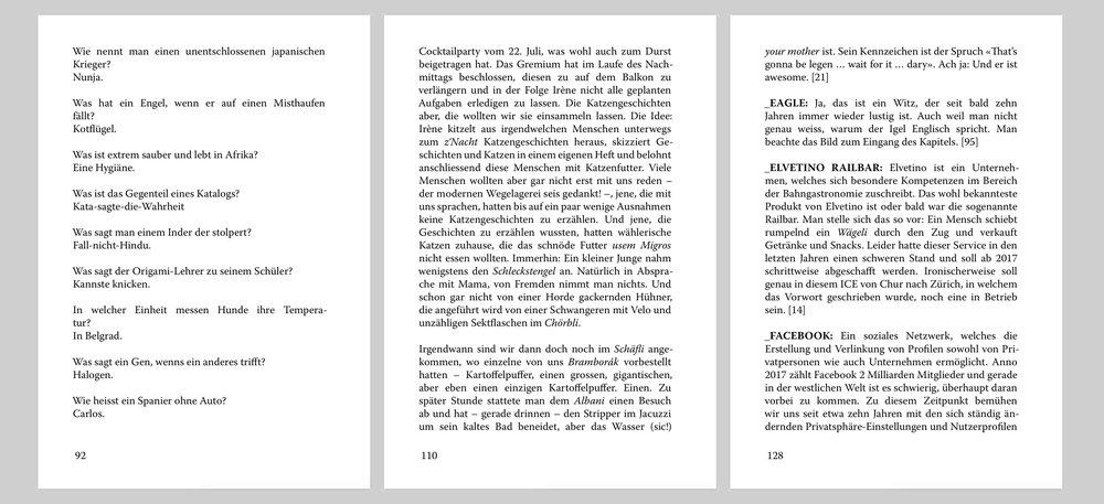 Wieviele Zeichen tatsächlich auf einer Seite stehen, hängt auch von der Textsorte ab. (Bild: Edition Unik)