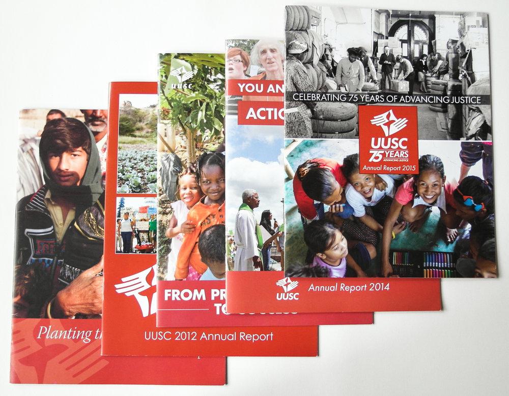 UUSC Annual Report 2011-2016