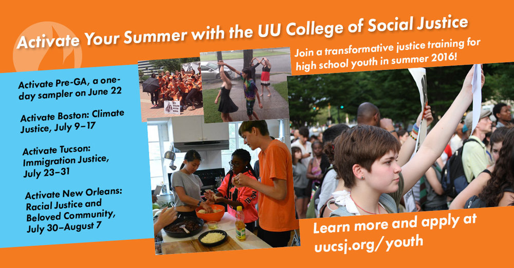 UUCSJ Summer program graphic, 2015