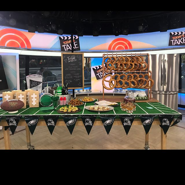 Our Eagles and the NFL are back tonight and we helped the @todayshow and @pinterest share the most epic tailgating food, games, and decor. If you missed the segment you can grab the link to watch in our stories! 🦅 🏈 👍🏻💯 . . . #productioncompany #ec2productions #todayshow #nfl #nycproducer #nycproduction #phillyproducer #philadelphiaeagles #philadelphia #