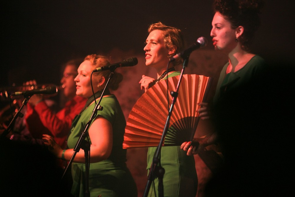 The Spitfire Sisters at Larmer Tree Festival