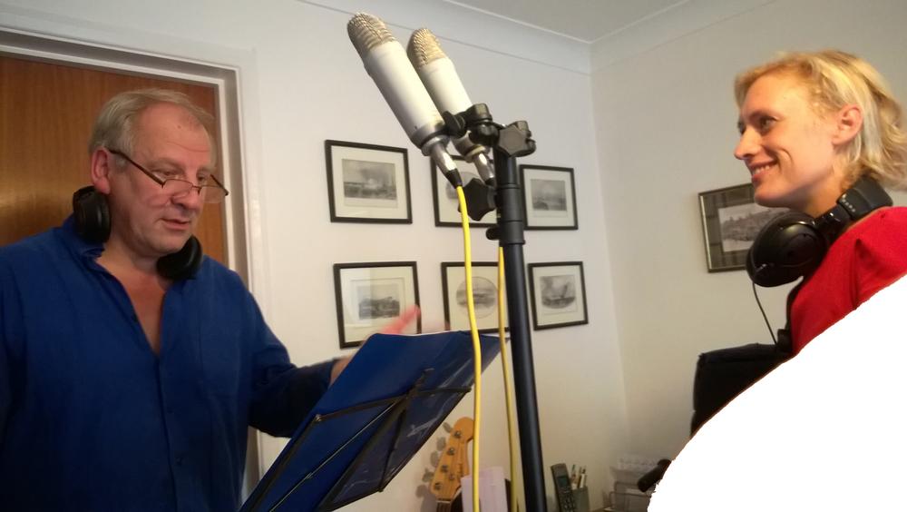 Recording Simon Slater's clarinet parts at 51 Skin Studio