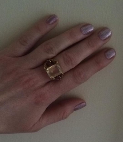 Hannah's latest Shellac and her beautiful Tessa Metcalfe ring.
