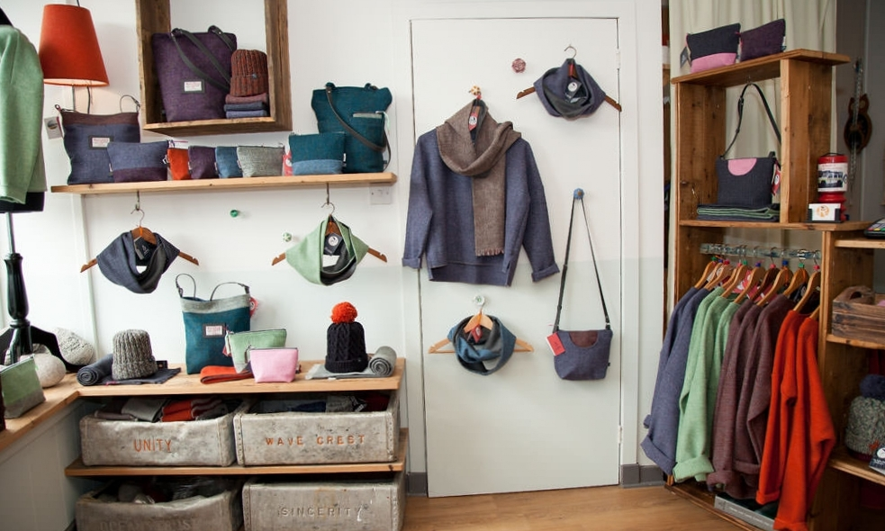 By Rosie Harris Tweed Bags, Clothing & Accessories