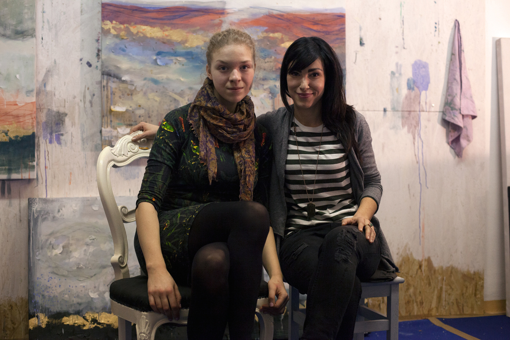 Me and Marherita in her studio.