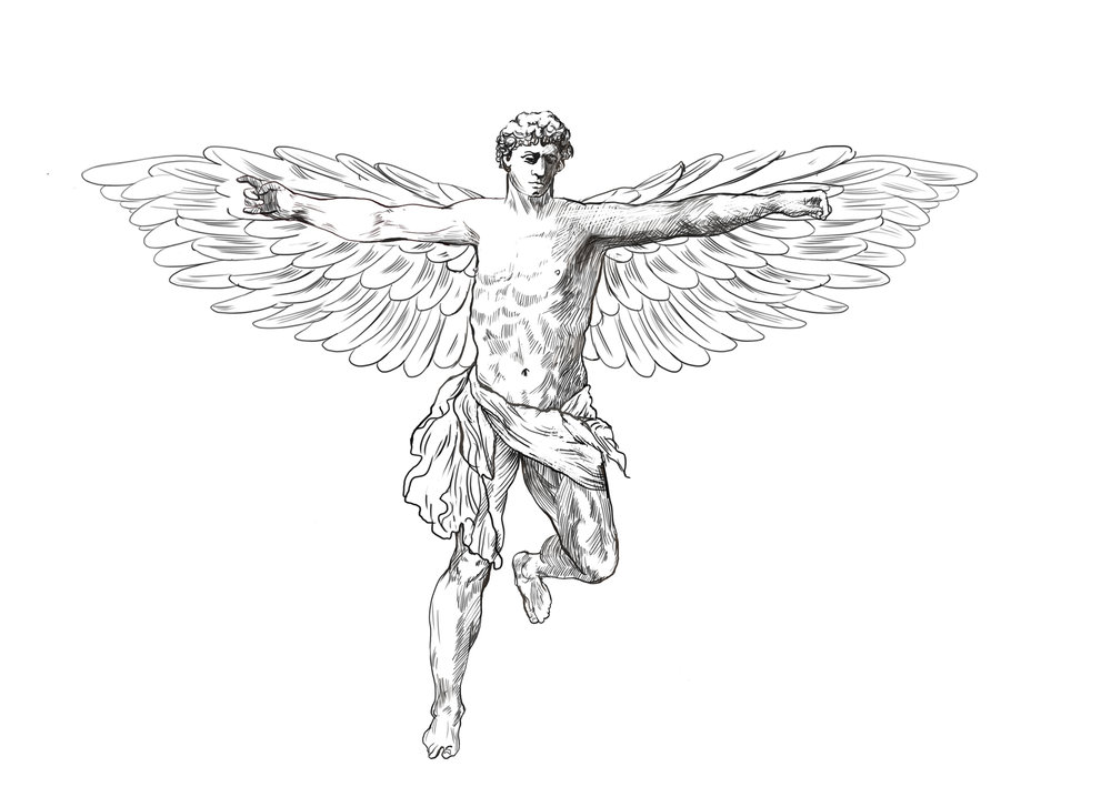 This is an illustration of the Angel Guardian.