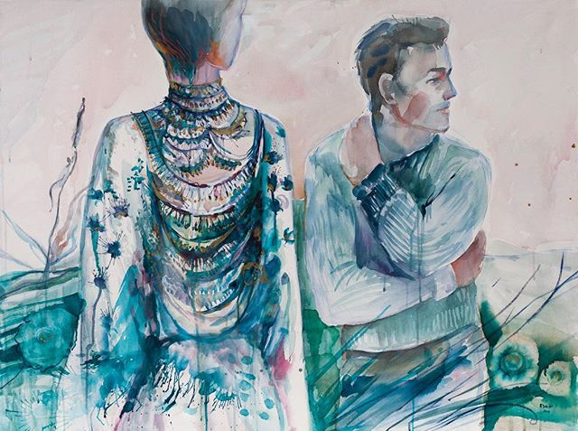 HOUR OF THE WOLF    central panel, watercolour and pastel on canvas.  See it live to morrow at Super Wonder Gallery. . .  #livepainting #art #torontoartscene #torontomusicscene #nowtoronto #faceofnow #blogto #piano #femaleartists #womeninart #contemporaryartist #darkmusic #collaboration #artproject #watercolor #emergingartist #torontomusicians #torontoculture #torontolive #artshow #torontoartshow #torontolivemusic #torontoevents  #torontocix #torontolife #magicalrealism #inspiringwomen #liveauction #artauction @torontoartandmusic @blogto @artsuperwonder @torontoist @nowtoronto @exclaimdotca