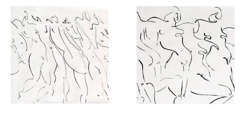 PSYCHODRAMA , ink on paper