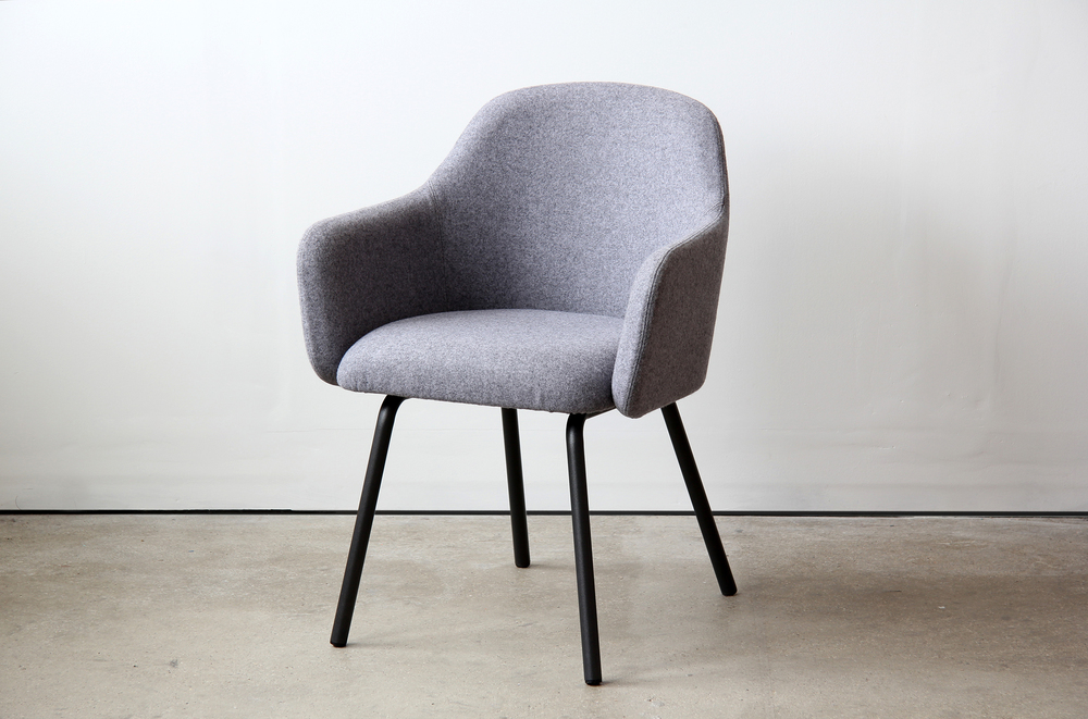 004 VG&P MT Club Chair Steel Legs - Grey Blazer Front Side.JPG