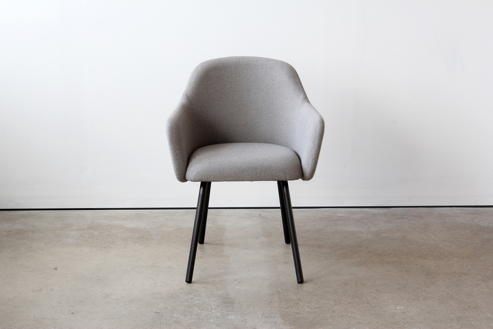 004 VG&P MT Club Chair Steel Legs - Grey Blazer Front.JPG