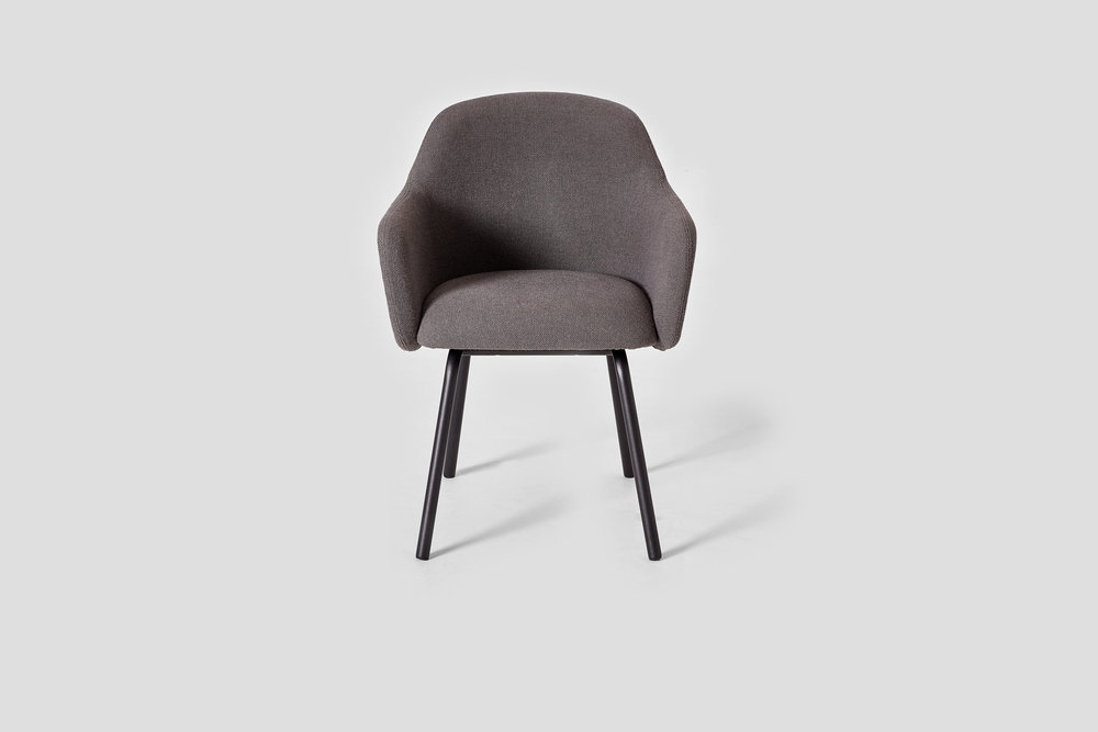 MT CLUB CHAIR with STEEL LEGS