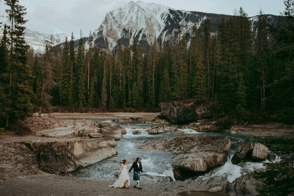 Adventure elopement in BC, Alberta