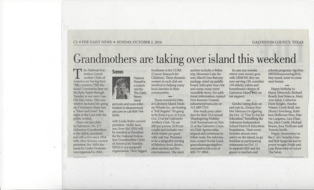 current events from news papers national federation of grandmother