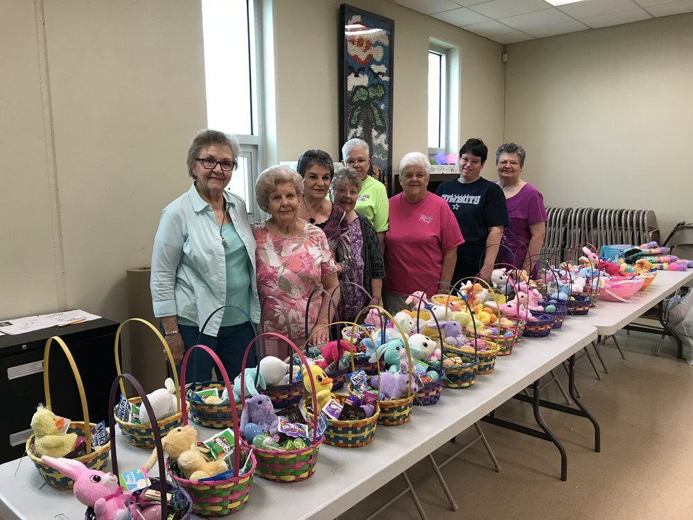 Santa Fe Crafty Grannies #1033 made 40 Easter Baskets March 2018