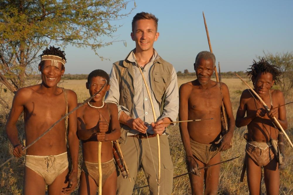 """Die Ureinwohner Afrikas, die """"San"""". Zusammen mit Eric Mayer, ZDF"""