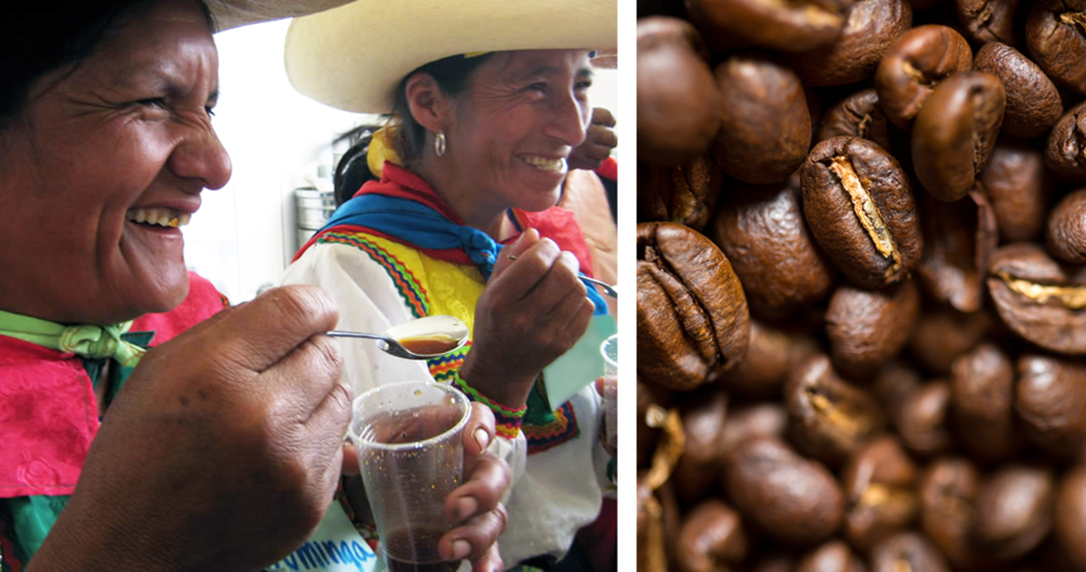 We work with a small co-operative in Peru to source organic, Fair Trade coffee beans.