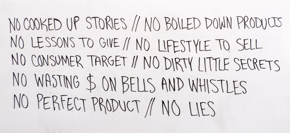 One of our original to-do lists circa late 2011.