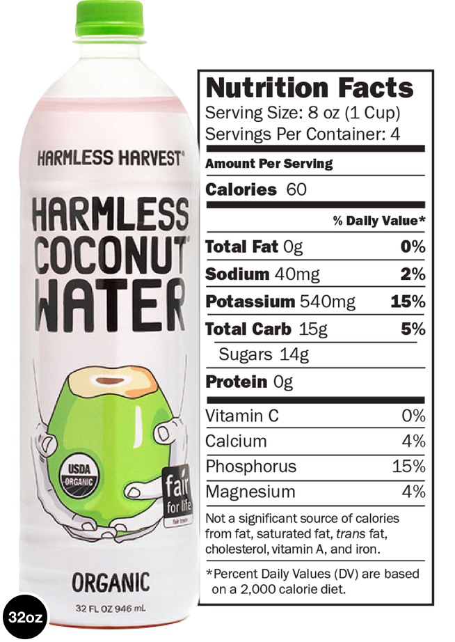 Image - Nutritional information for 32oz bottle