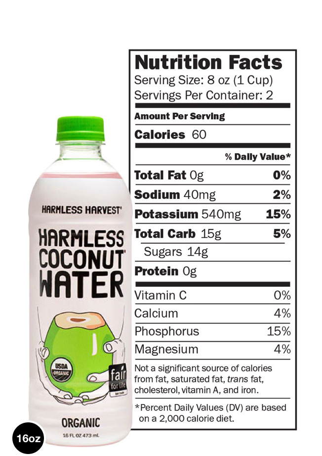 Image - Nutritional information for 16oz bottle